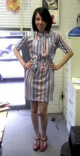 Love this blog!  She takes too big or ugly clothes and makes them into something cute!  - very impressive!