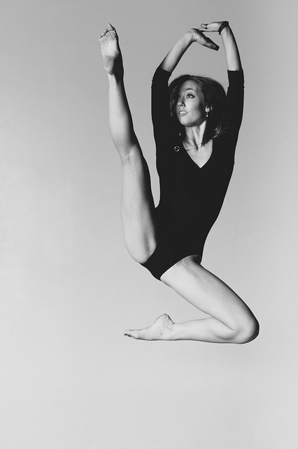 Ballet jump. Such flexibility.