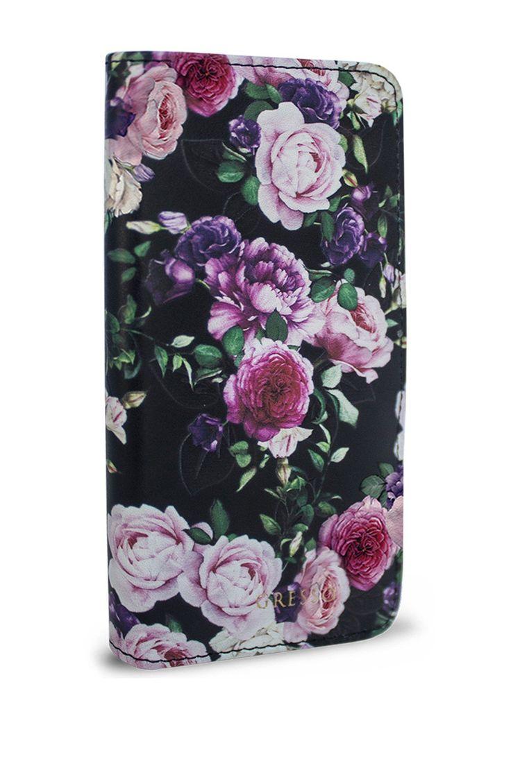 Victorian Garden Purple Roses Wallet Case - iPhone 7 Plus