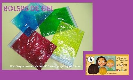 Bolsas sensoriales de gel que se pueden utilizar como pizarras mágicas. Paso a paso en http://blogdelosmaestrosdeaudicionylenguaje.blogspot.com.es/2012/11/bolsas-sensoriales-de-gel.html