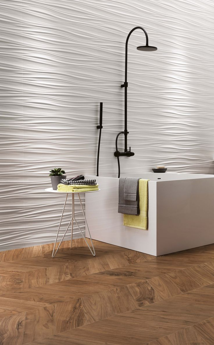Amazing 3D feature wall. Ceramic wall tiles, ideal for bathroom and spa.