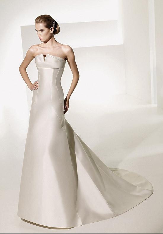 A-Line Floor Length Attached Mikado elegant wedding dresses Canada