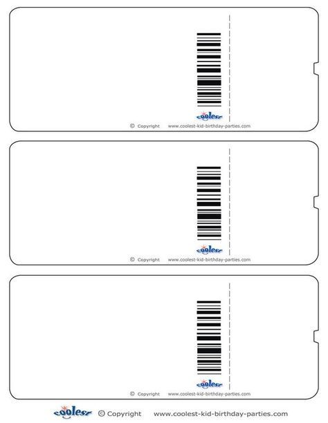 Blank Printable Airplane Boarding Pass Invitations - Coolest Free Printables