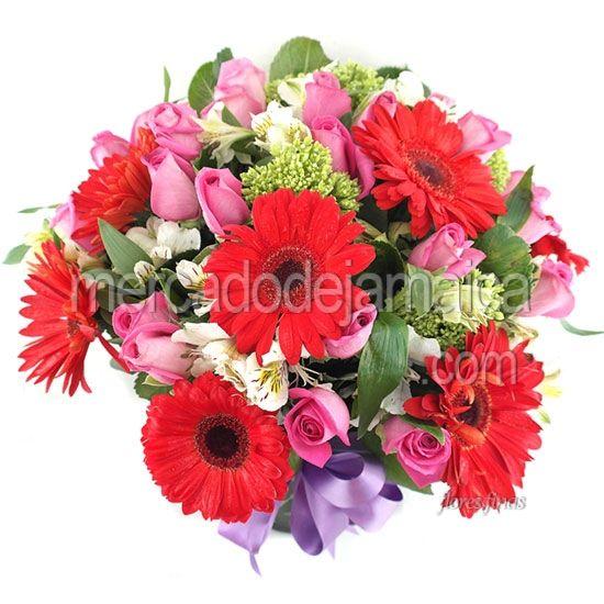Bouquet de Gerberas Rojas ColorLover !| Envia Flores