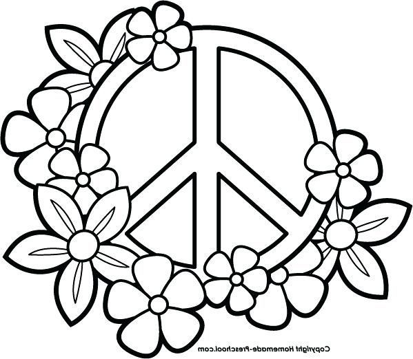 Heart Peace Sign Coloring Pages At Getcolorings Com Free Printable Heart Coloring Pages Easy Coloring Pages Coloring Pages For Teenagers