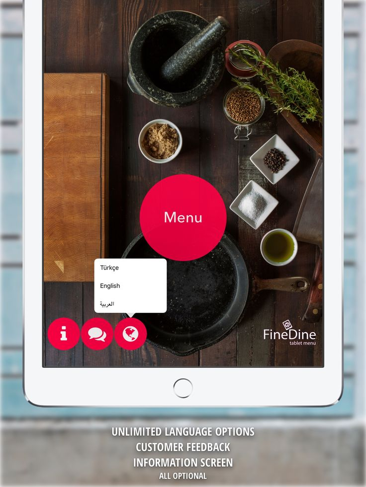 Languages, feedback-survey, restaurant info page... You can enable/disable any of this features anytime!   #tabletmenu #ipadmenu #menuapp #menuapplication #menuapps #foodapps #restaurantapp #restaurantapps #feedback #restaurantfeedback #appmenu #survey #restaurantsurvey #restaurantinfo #finedine #food #foodapp #menuads #restaurantads