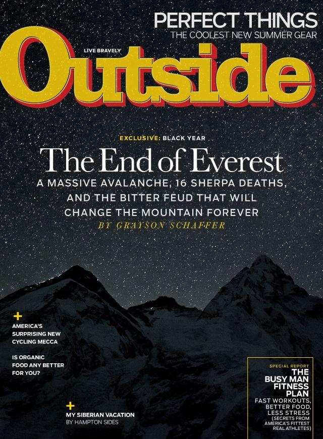 Outside Magazine, August 2014