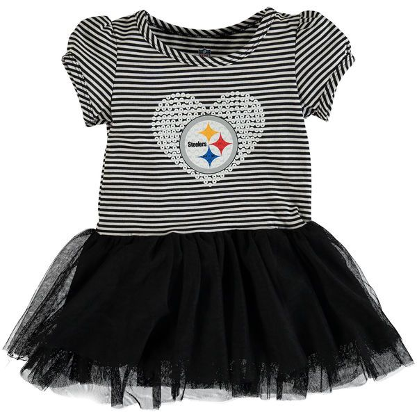 Pittsburgh Steelers Girls Infant Celebration Tutu Sequins Dress - Black - $27.99