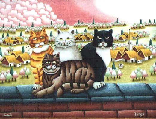 """Franco Conti: """"I gatti di Cristina"""", 1989"""