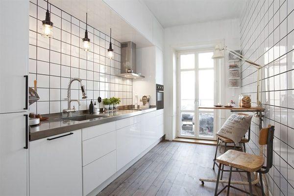 White Kitchen Modern Rustic | DelysiaStyle - Delysia Style