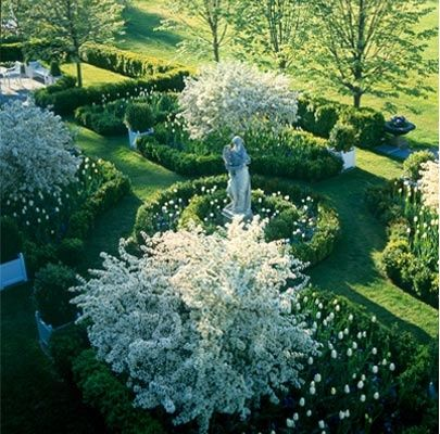 """""""Heaven is under our feet as well as over our heads.""""  ~Henry David Thoreau  (image of Carolyne Roehm's exquisite garden)"""