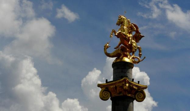 Pomnik św. Jerzego, Plac Wolności, Tbilisi