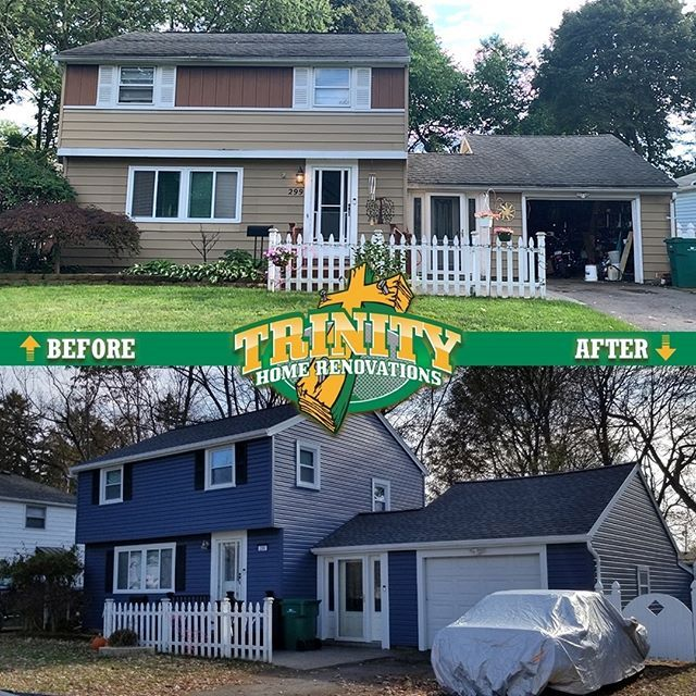The Home Needed A New Roof And The Homeowner Also Wanted To Updated The Siding We Installed A New Gaf Lifetime Roofi Roofing Contractors Roofing Trinity Homes