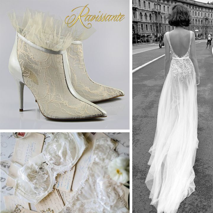 Transparency, lace and sex-appeal - perfect wedding lace boots