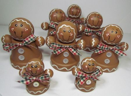 clay pot gingerbread people