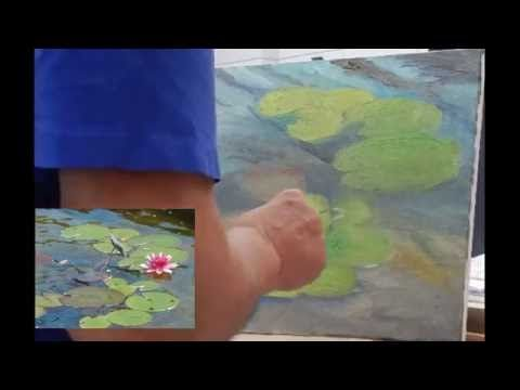 Tom Fisher 13 Water Lilies Speed Painting - YouTube