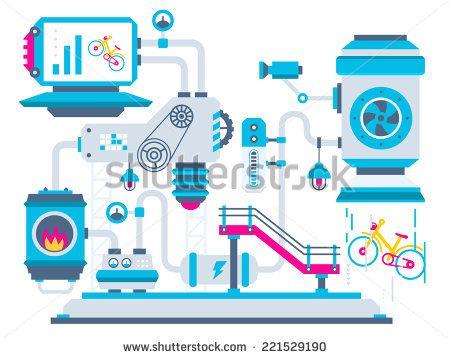 factory flat design - Pesquisa Google