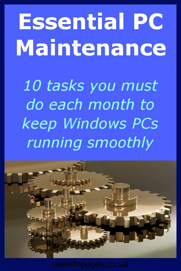 10 monthly maintenance tasks you must do on a Windows PC | Tech