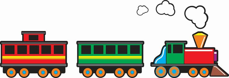 TRAIN cartoon decal set  removable and by RushWorksGraphics, $45.00