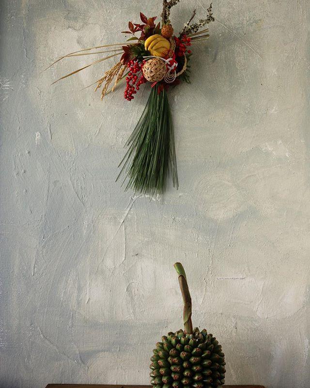 色々頑張ってます . . #flower  #arrangement  #正月