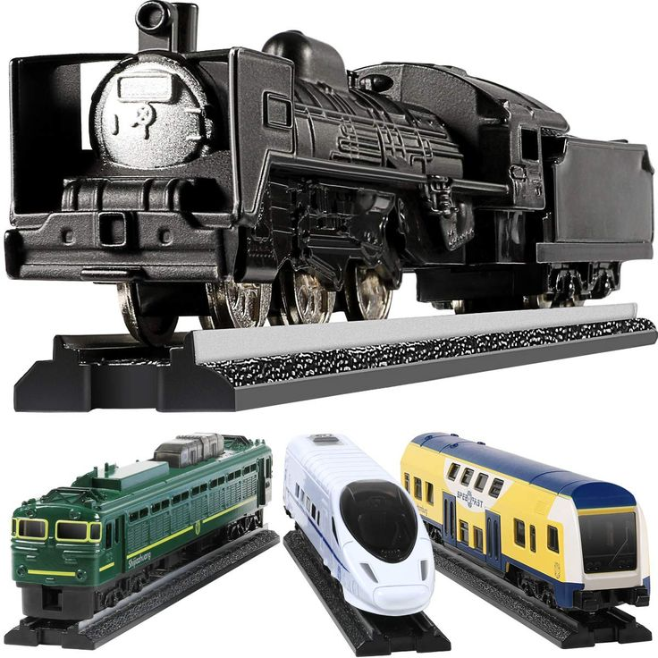 Toy Train Set For Toddlers, GEYIIE Kids Metal Alloy Trains