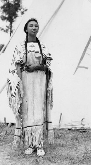 Audrey, Assiniboine Nakoda, Wolf Point, Montana by Montana State University Library, via Flickr.