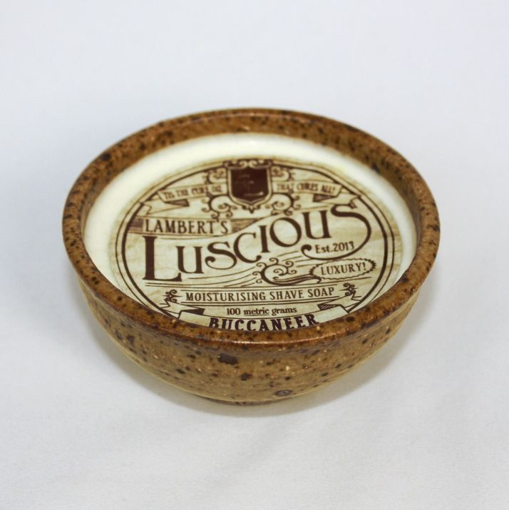 <p><strong>Lambert's Luscious Luxury Moisturising Shaving Soap</strong>is the perfectshaving soapfor the gentleman who wants the ultimate in shaving luxury, performance, comfort and style.</p><p>All GE free and sustainable natural products combine to give this soap an abundant lather and terrific shaveability.</p><p>The Buccaneer fragrance evokes a spirit of the old world with a product that is fresh, modern and undeniably suave.</p>