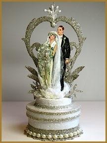 """new -1920's """"Garden Deco"""" cake topper-Patricia Minish Designs"""
