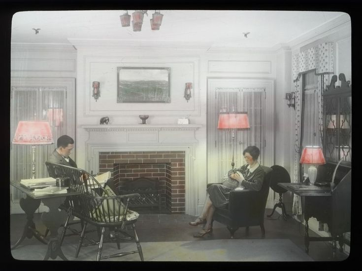 FileCouple In Living Room Circa Find This Pin And More On 1930s Home Decor