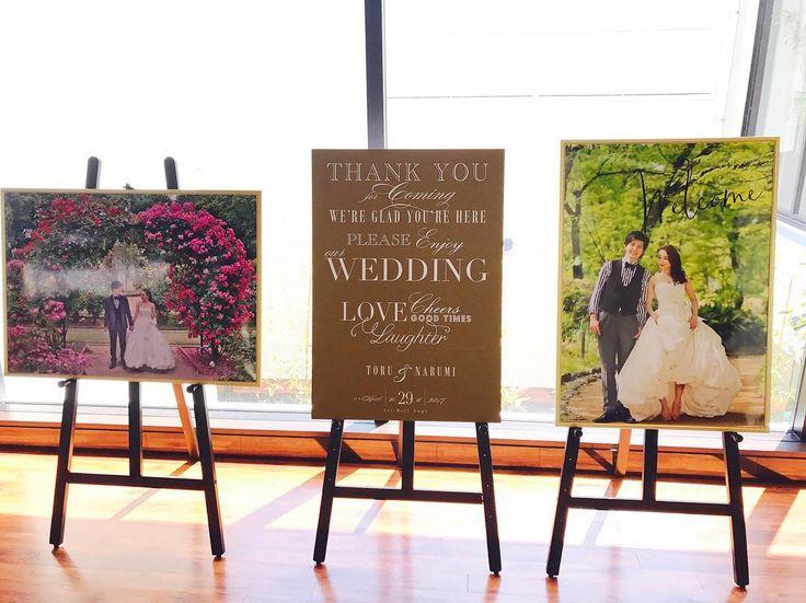 結婚式前撮り写真を使ったウェルカムボードのデザイン・飾り方 | marry[マリー]