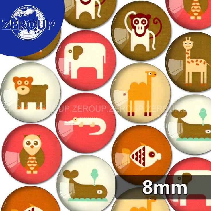 8 мм круглый животных эскизы фотографий стекло кабошон смешанные шаблоны fit камея база установка для плоской задней ювелирных изделий 100 шт./лот