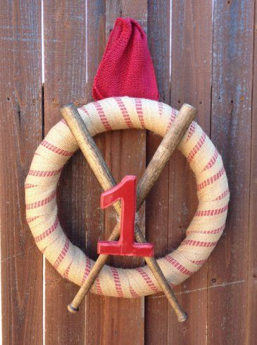 Super Cute Vintage Baseball Wreath