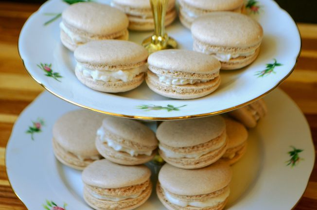 """Do you remember the brown sugar and cinnamon Poptarts?? (Not sure if that needs a copyright symbol.) These were a middle of the night """"I need to remake my cinnamon roll macarons"""" idea. …"""