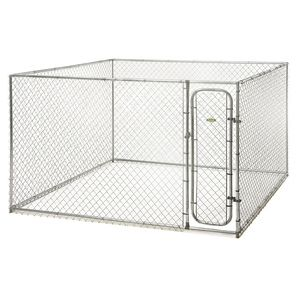 Create a full- size chain-link kennel from the contents of a single box. The do-it-yourself box kennel can be transported with ease and sets up quickly with the help of a few simple hand tools. Featur                                                                                                                                                                                 More