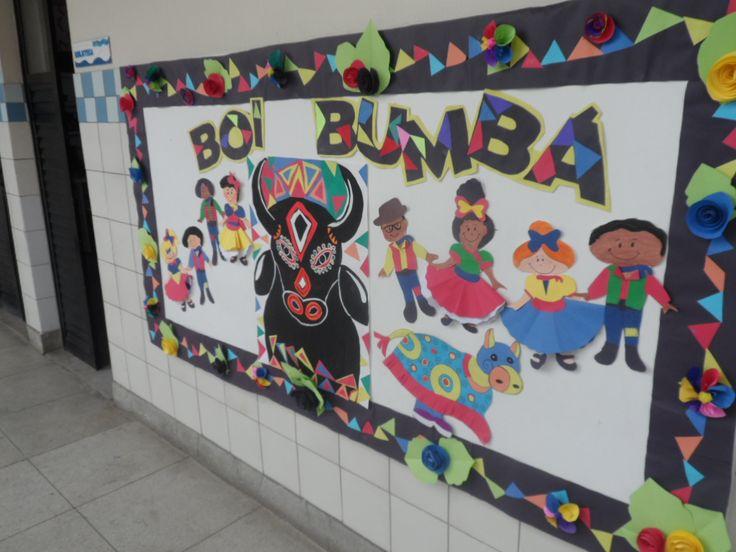 Painel Boi Bumbá - Escola Experimental -Ana Dias