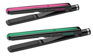 """Groupon - Babyliss Pro Nano Titanium 1"""" Straightener with Luxe Croc Bag. Groupon deal price: $49.99"""