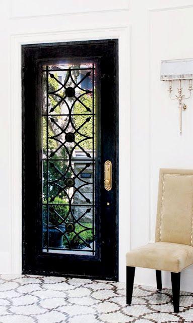 black entry door
