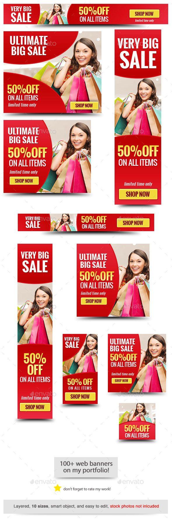 Big Red Sale Banner Template #design #web #ads Download: http://graphicriver.net/item/big-red-sale-banner-template/12650833?ref=ksioks