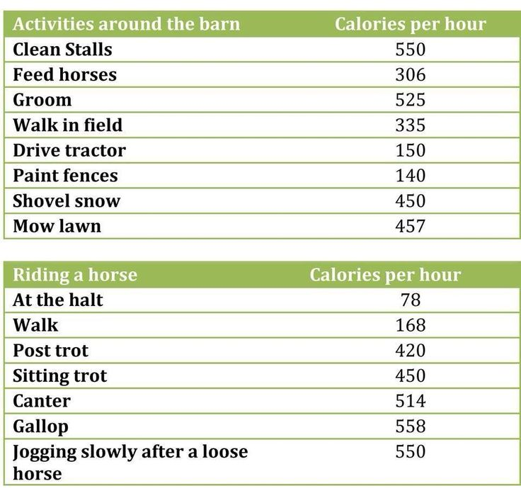 "Equestrian Calorie Burning Guide Love the""jogging after a loose horse"" Wow I didn't know u burn that much lol"