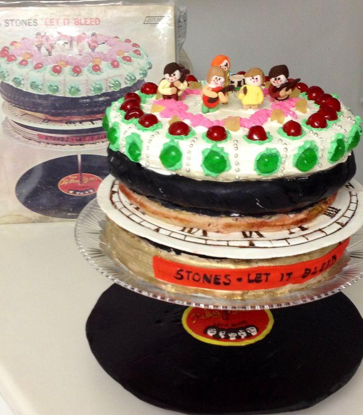 Rolling Stones Album Covers Cake