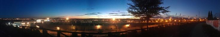 Fotografía Panorámica. Antes del amanecer en #leganes, cuando a punto está de salir el sol.