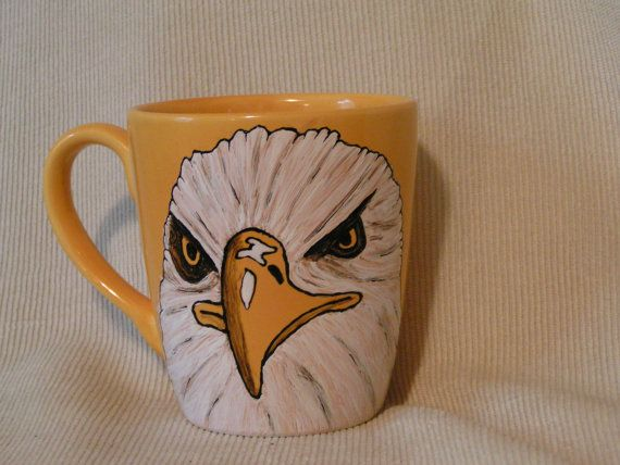 Handpainted Eagle Cup by cherigueco on Etsy, $25.00Handpainted Eagles, Eagles Cups