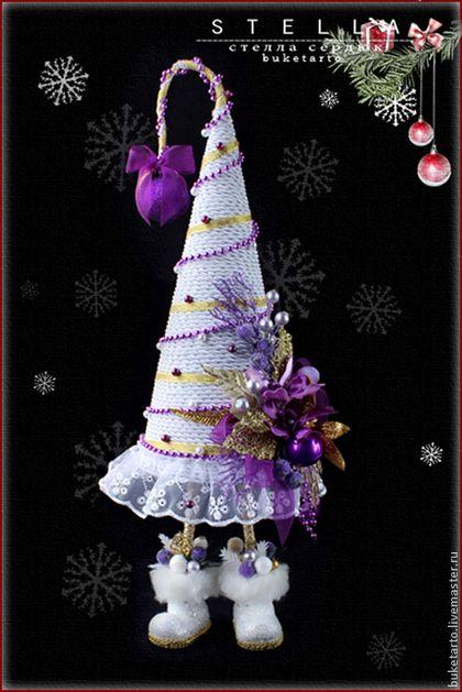 Новый год 2015 ручной работы. Ярмарка Мастеров - ручная работа Елка, елочка в сапожках,новогодний подарок, интерьерные композиции. Handmade.