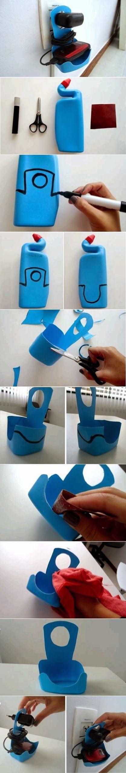 Plastic Bottle Mobile Phone Charger Holder   DIY & Crafts Tutorials