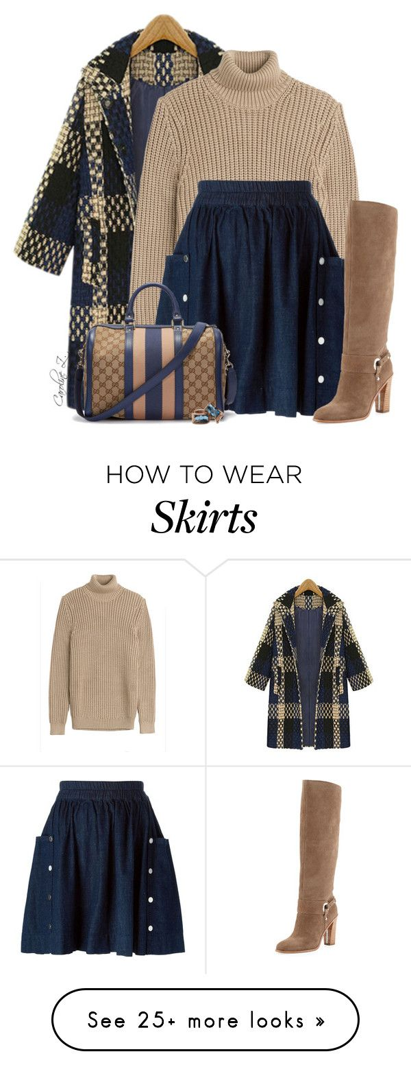 """""""Skirt & Boots"""" by carolinez1 on Polyvore featuring мода, Michael Kors, Marc by Marc Jacobs, Donald J Pliner и Gucci"""