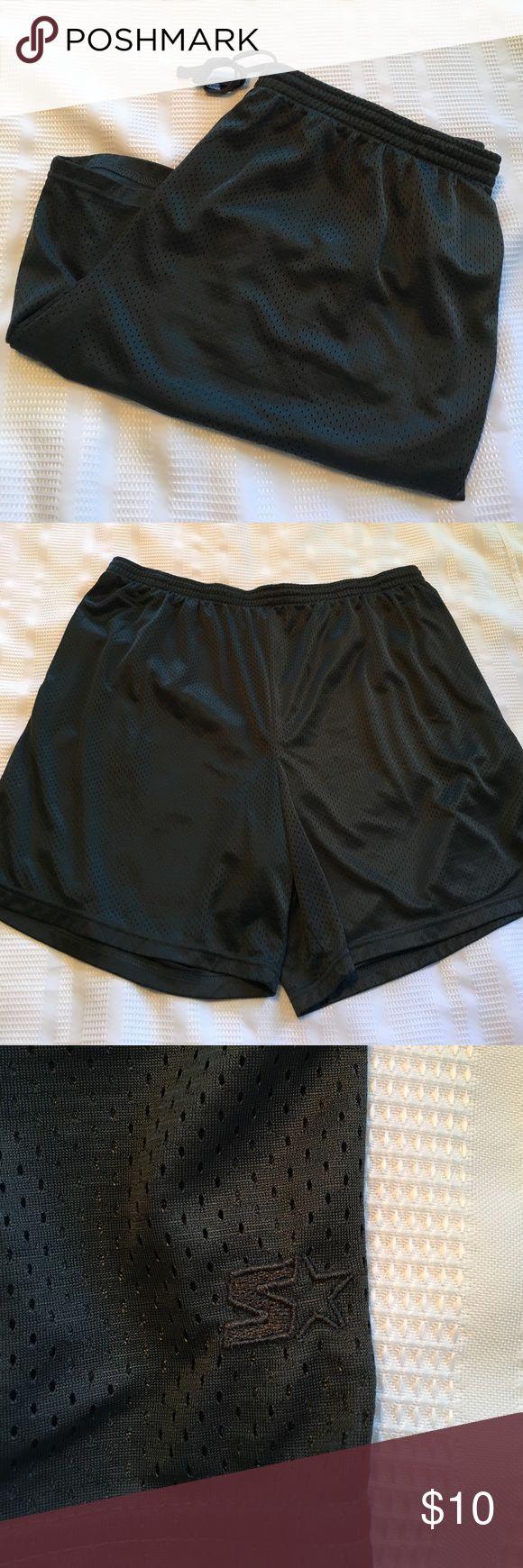 "Starter Dark Gray Athletic Shorts Dark gray. Drawstring close. Two front pockets. 7.5"" inseam. Starter Shorts Athletic"