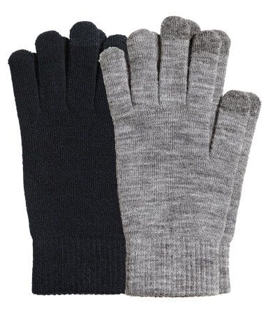 2 pack Smart Phone Gloves @H&M
