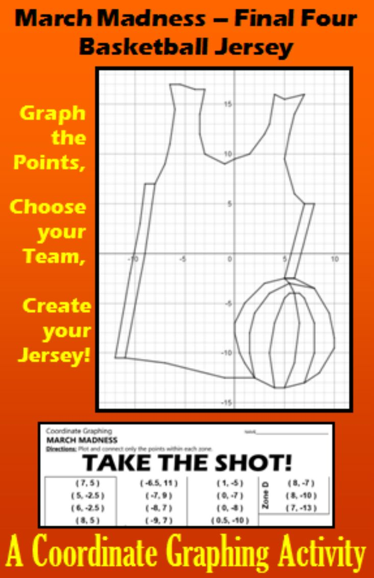 worksheet Halloween Graphing Coordinate 98 best french art graphing coordinates images on pinterest march madness basketball jersey a coordinate activity