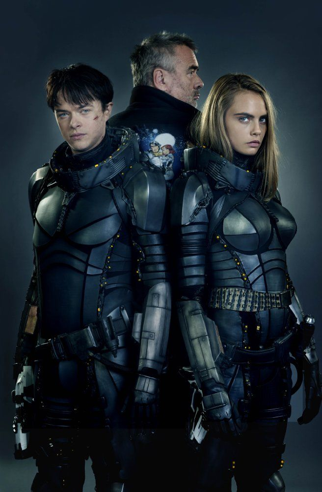 Luc Besson, Dane DeHaan, and Cara Delevingne in Valerian and the City of a Thousand Planets (2017)