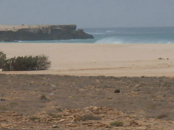 View from hotel room of the beaches of Cape Verde